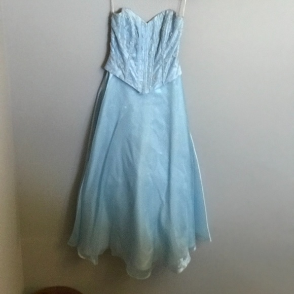 Blue Prom Dress with Matching Shawl and Crinoline